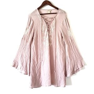 Lucy and Coco Oversize Women's Bell Sleeve Blouse